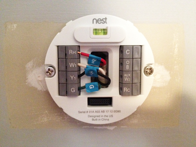 hook up nest thermostat