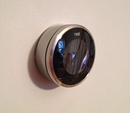 Nest thermostat installed