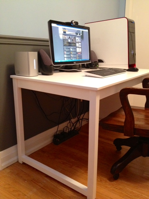 ikea dining table to desk storefront life. Black Bedroom Furniture Sets. Home Design Ideas