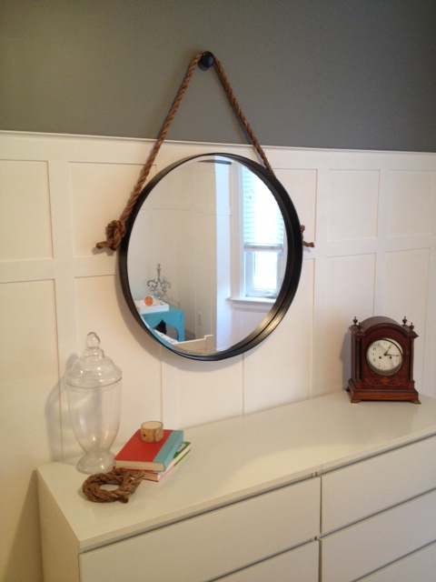 DIY Iron & Rope Mirror - Storefront Life