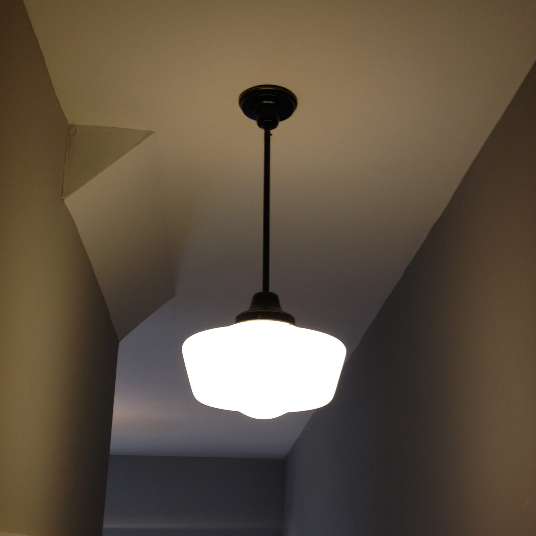 After: New Hallway Schoolhouse Light
