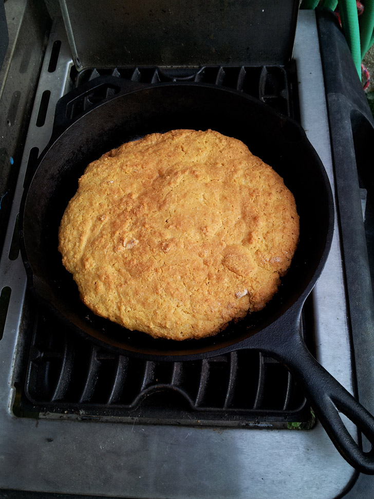 Corn bread done