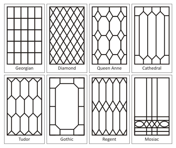 Diy leaded glass storefront life for New window patterns