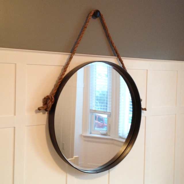 DIY Iron U0026 Rope Mirror   Storefront Life