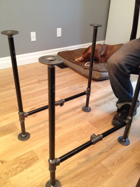 Kitchen With Black Iron Pipe Table Legs Pictures To Pin On