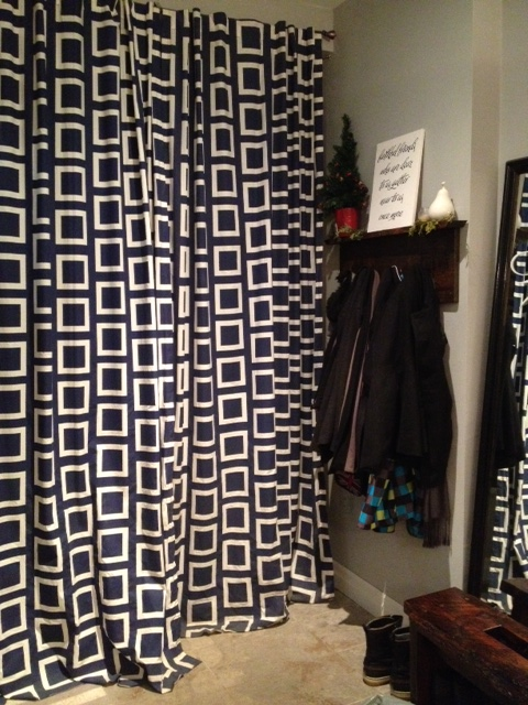 A view of the curtains from inside