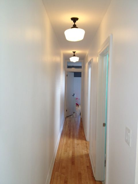 The Hallway with its fresh coat of white paint