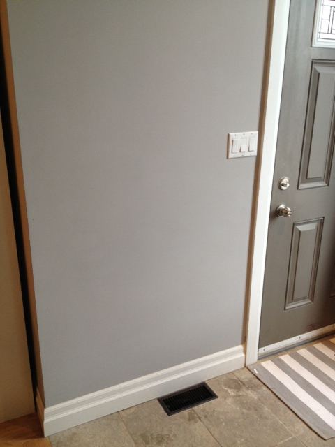 Entry Before. Isn't that wall crying out for a table/shelf for keys & mail?