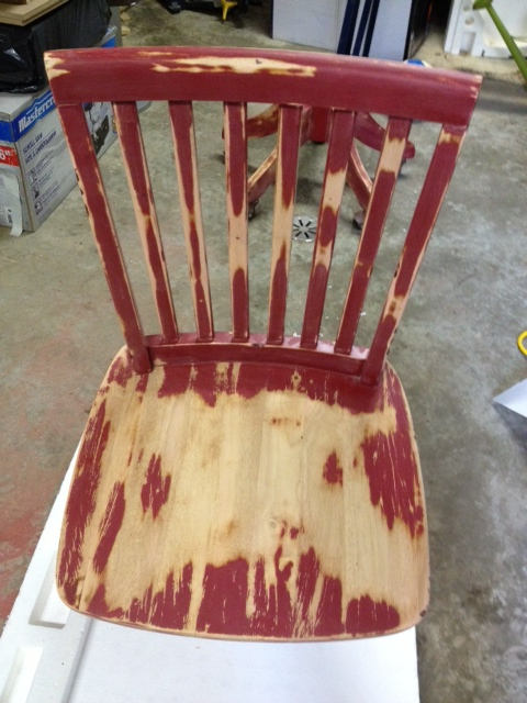Chair Seat Sanded