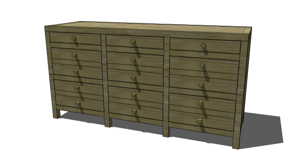 The Design Confidential's plans to build an RH inspired Media Cabinet