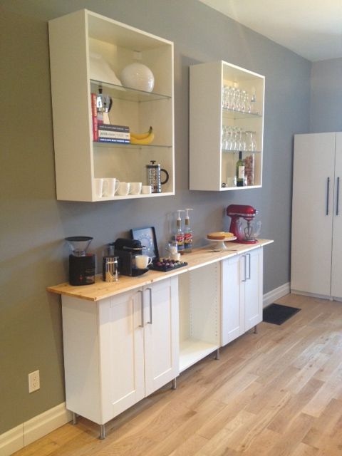 coffee bar progress