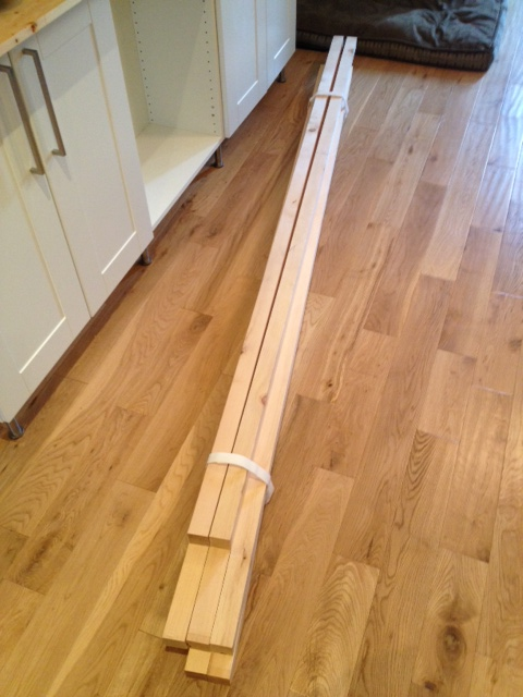 The lumber safely arriving at home