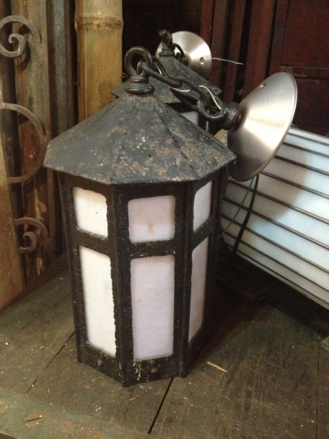 Wouldnt this lantern be gorgeous hanging from the ceiling of a lovely gazebo? Or as the entryway light for a coach house.