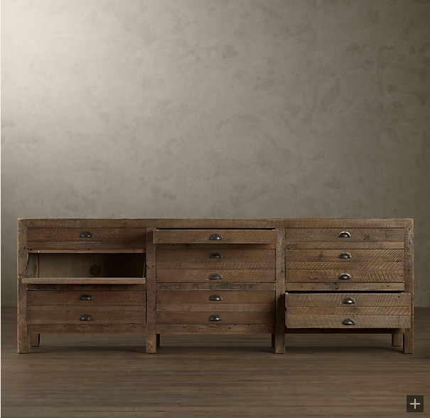 Printmakers cabinet frame supplies storefront life - Restoration hardware cabinets ...