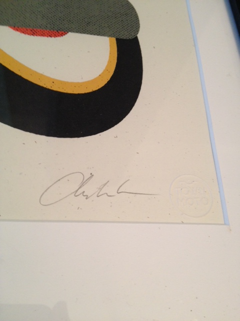 We framed the print so you could still see the signature and the embossed stamp on the print