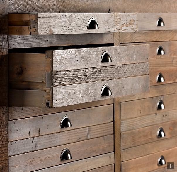 Restoration Hardware Antiqued Pine Finish