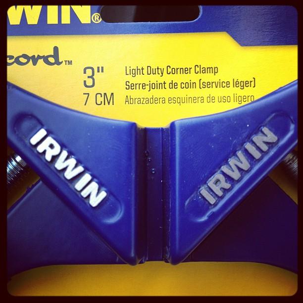 "3"" Irwin corner clamps"