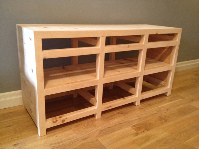 Media Cabinet with Shelves Installed