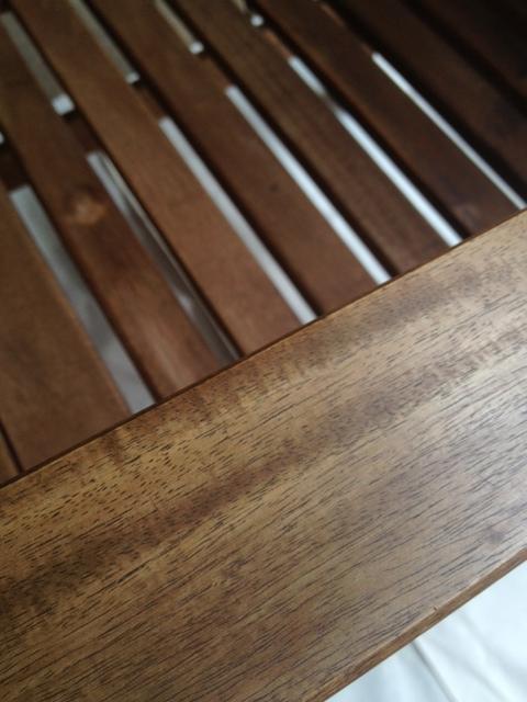 Pretty freshly oiled chair arm