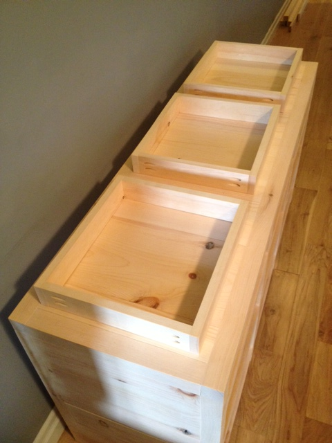 The Drawer Boxes ready for drawer bottoms