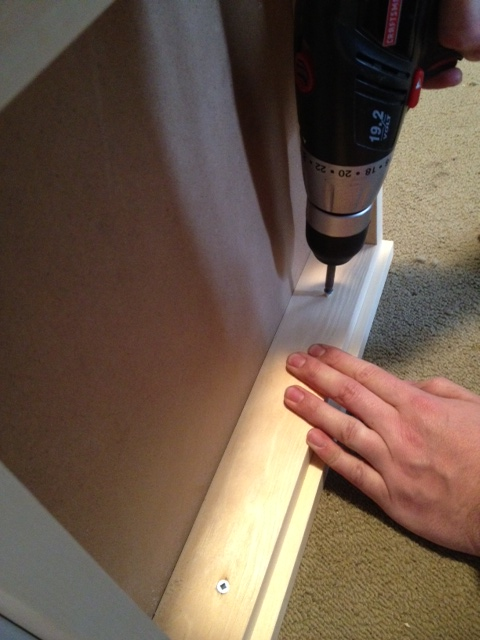 attacing drawer fronts