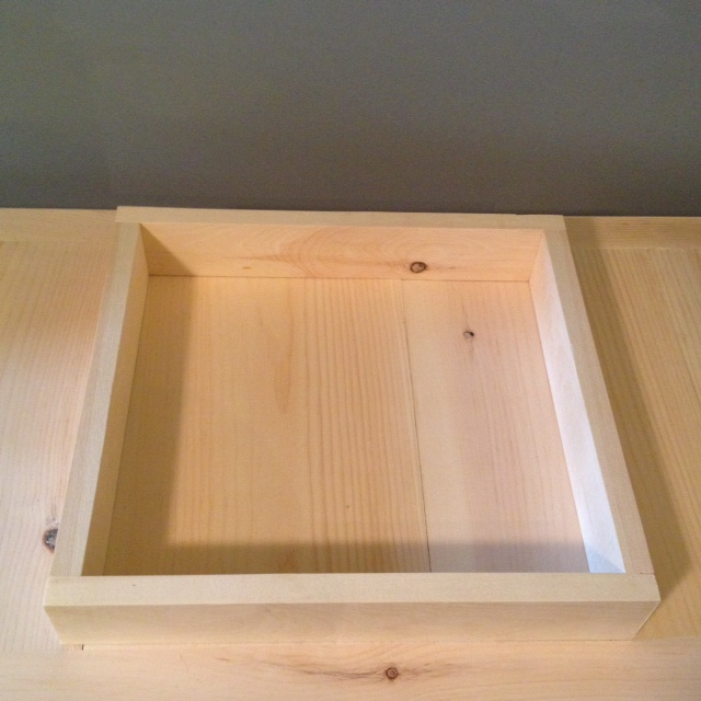 Drawer Box. These skinny drawers go at the top of the cabinet to hold small things such as remotes and magazines
