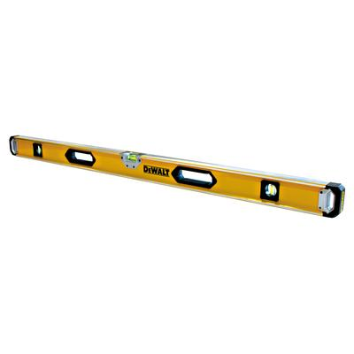 "DeWALT 28"" box level. (has rubber shock end caps so if you drop it accidentally its not the end of the world!) $69.99"