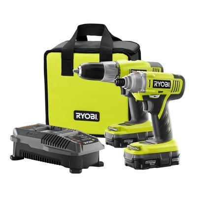 Ryobi One+ 18V Lithium Drill and Impact Driver Kit $149