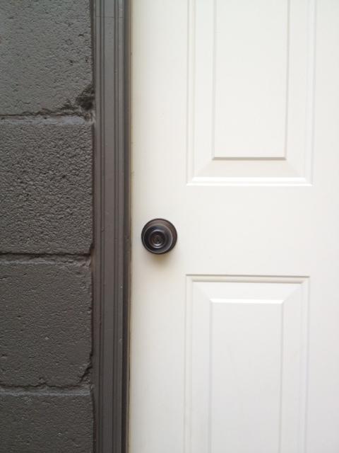Painted door knob