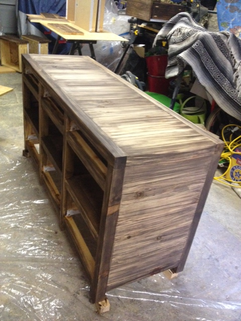 Cabinet stained