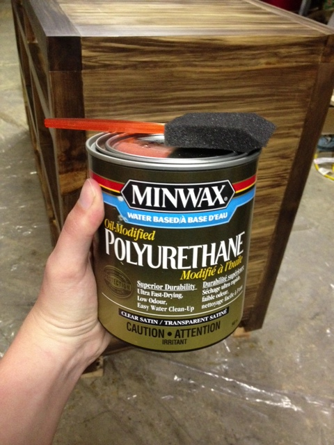 We use Oil-Modified Polyurethane with a foam brush