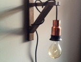 DIY West Elm Copper Light