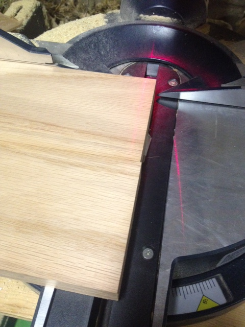 See how the ends are uneven? No problem, a quick run through the saw will have everything perfect