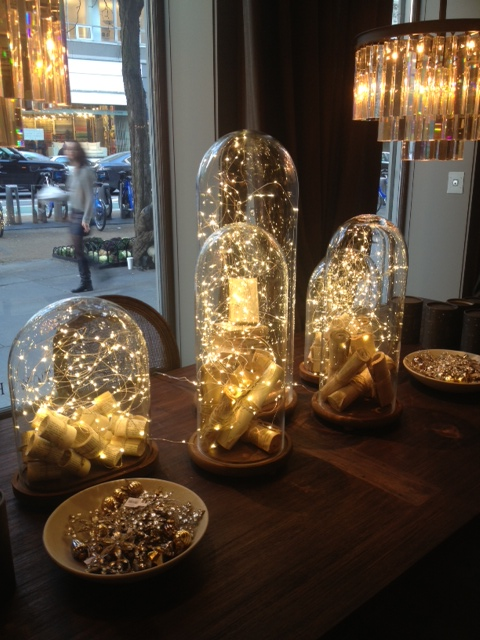 Restoration Hardware - Lights under glass - great for a Holiday table