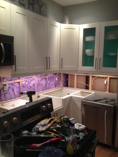 Kitchen Backsplash Removal backsplash removal - how not to do it - storefront life