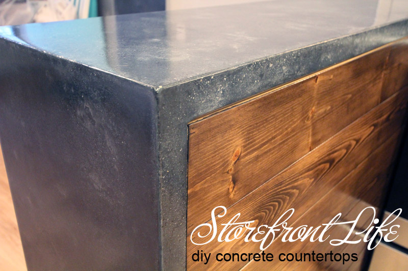 Concrete Countertops The Reveal Storefront Life