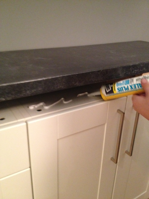Attaching Countertops to cabinets