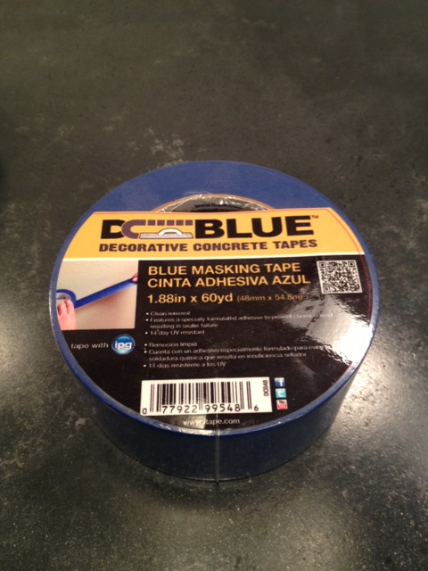 DC Blue Concrete Masking Tape (safe for your sealer!)