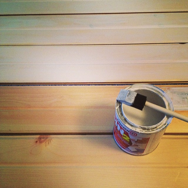 Priming the Ceiling Planks