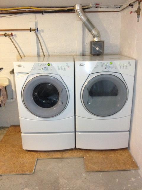 Washer & Dryer re-installed