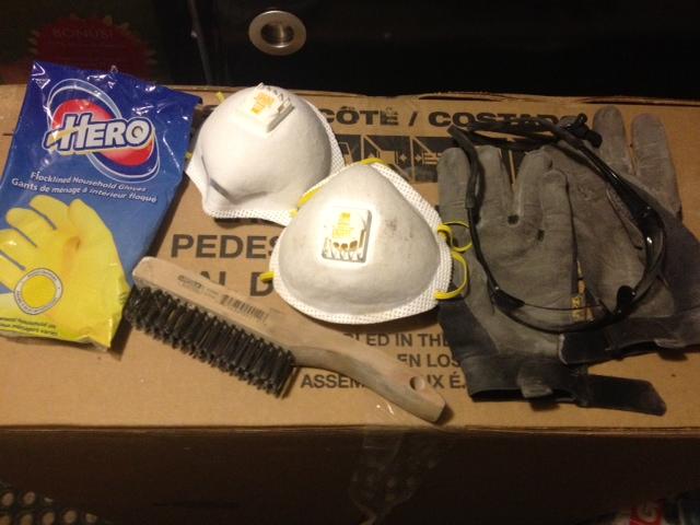 Basement prep tools.