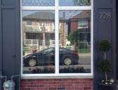 Leaded Glass Storefront Window