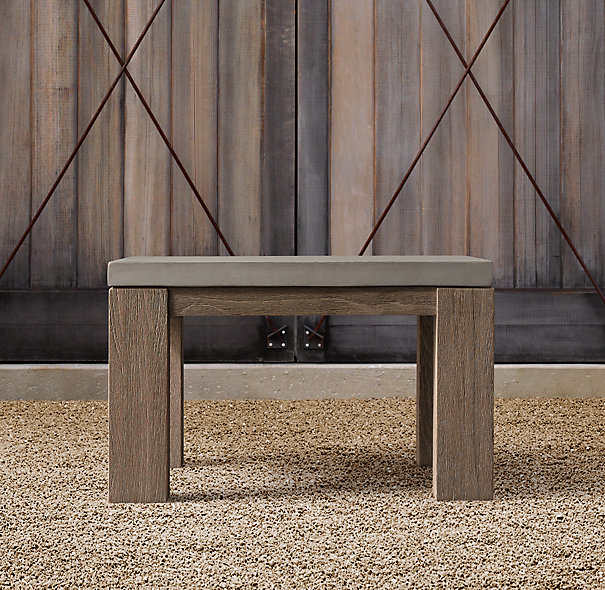 Restoration Hardware Belgian Trestle Weathered Side Table