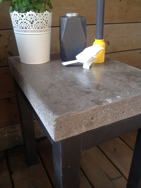 diy concrete side table storefront life