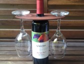 Wood Stained Wine Glass Holder
