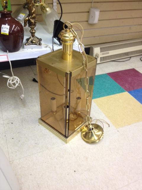 Brass & Smoked Glass Lantern