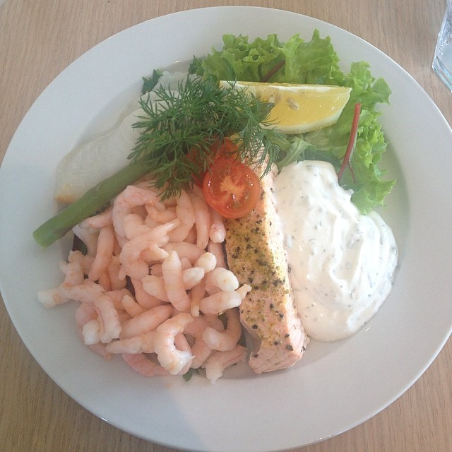 Fresh Seafood from a restaurant in Hundested Denmark