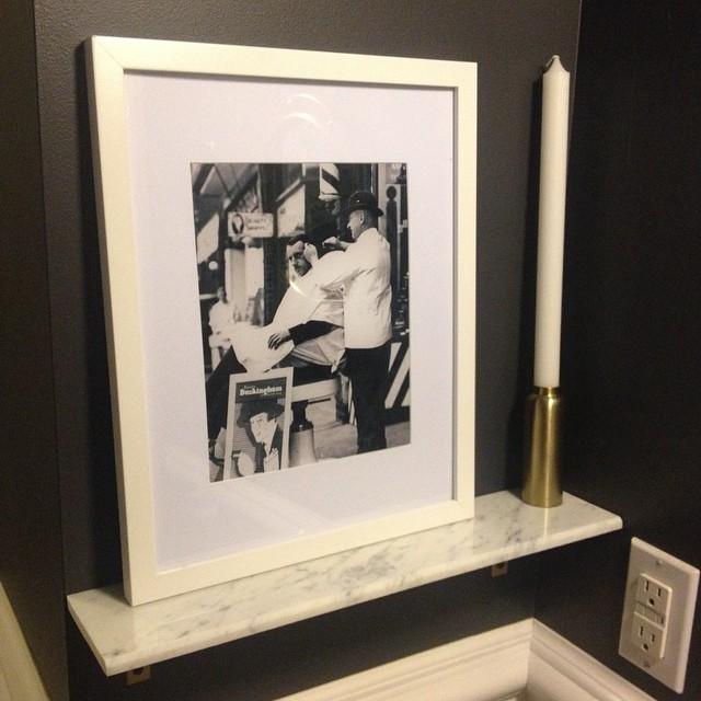 framed barber print