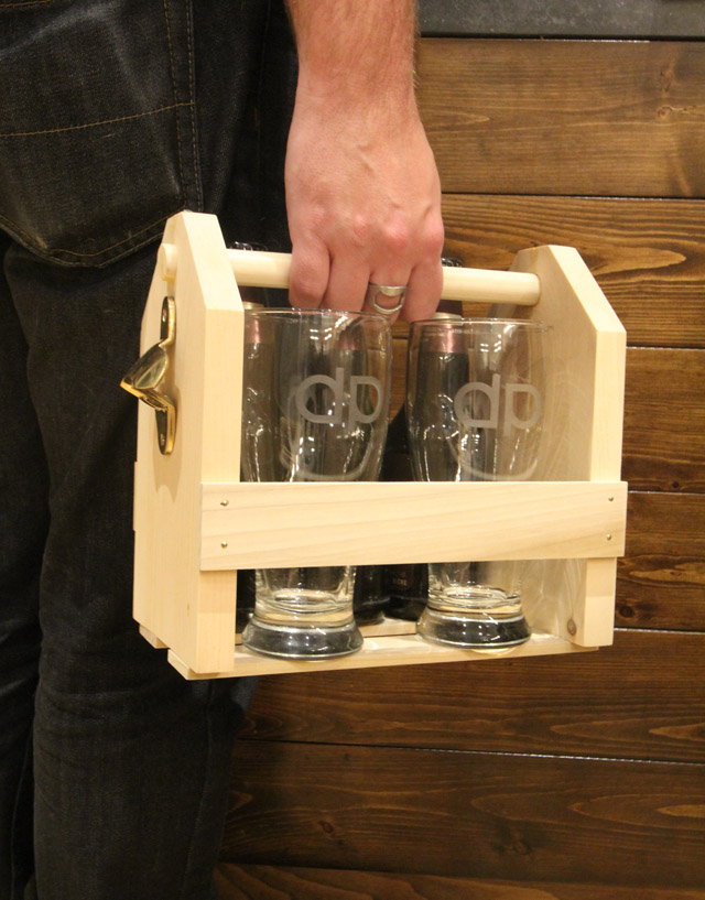 Wood Beer Carrier