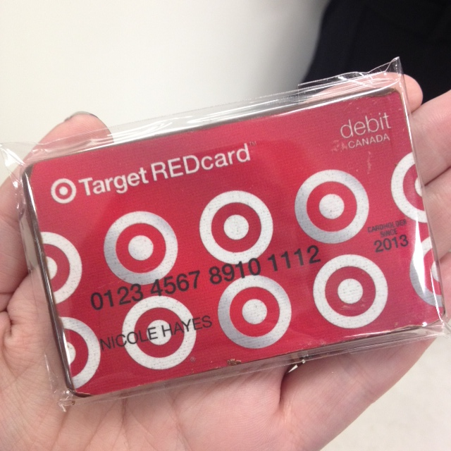 A Target Red Card chocolate. I only wish I could shop with it AND eat it.
